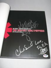 RED HOT CHILI PEPPERS signed autographed ORAL & VISUAL HISTORY BOOK! PSA/DNA LOA