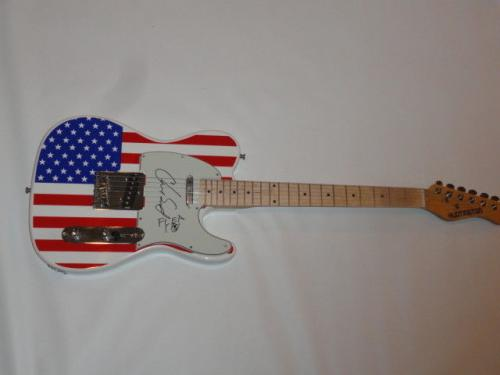 Red Hot Chili Peppers Signed Usa Flag Electric Guitar Chad Smith Flea Jsa Coa