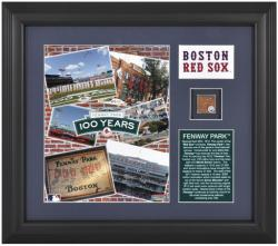 Boston Red Sox Framed Collage 100 Years at Fenway Park Framed Collectible with Game-Used Dirt Limited Edition of 1000 - Mounted Memories