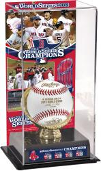 Boston Red Sox 2013 MLB World Series Champions Gold Glove with Image Display Case - Mounted Memories