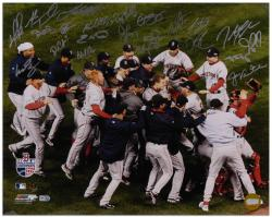 "Boston Red Sox 2007 World Series Celebration Team Autographed 16"" x 20"" Photograph with 23 Signatures"