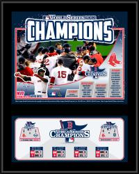 Boston Red Sox 2013 MLB World Series Champions Sublimated 12'' x 15'' Team Plaque