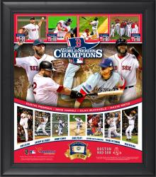 Boston Red Sox 2013 MLB World Series Champions Framed 15'' x 17'' Team Collage with Game-Used Baseball