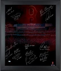 Boston Red Sox Framed 20'' x 24'' In Focus Photograph with Multiple Inscriptions & Signatures-#12 of a Limited Edition of 12