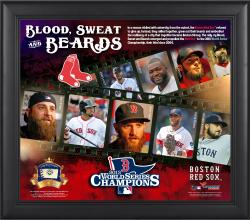 "Boston Red Sox 2013 MLB World Series Champions 15"" x 17"" Blood Sweat & Beards Collage with Game-Used Baseball"