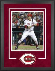 "Cincinnati Reds Deluxe 16"" x 20"" Vertical Photograph Frame - Mounted Memories"