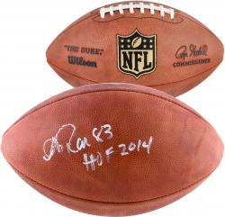 Andre Reed Buffalo Bills Autographed Duke Pro Football with HOF 2014 Inscription - Mounted Memories