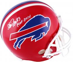 Andre Reed Buffalo Bills Autographed Riddell Replica Helmet with HOF 2014 Inscription - Mounted Memories