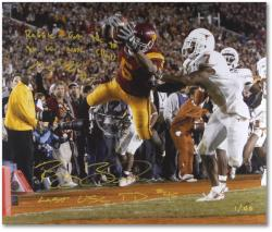 "Reggie Bush and Michael Huff National Championship Dual Autographed 20"" x 30"" Photograph with 2 Inscriptions"