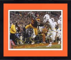 "Reggie Bush and Michael Huff - National Championship Dual Autographed 16"" x 20"" Photograph with 2 Inscriptions - Mounted Memories"