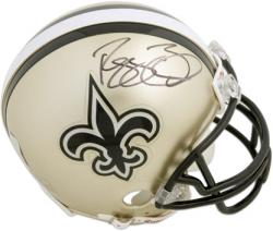 New Orleans Saints Reggie Bush Autographed Mini Helmet - Mounted Memories