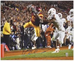"""Reggie Bush USC Trojans Autographed 16"""" x 20"""" The Dive vs. Texas Longhorns Photograph"""