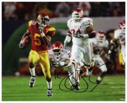 """Reggie Bush USC Trojans Autographed 8"""" x 10"""" Running Photograph"""