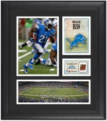 Reggie Bush Detroit Lions Framed 15'' x 17'' Collage with Game-Used Football - Mounted Memories