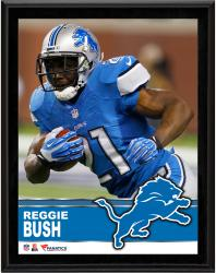 Reggie Bush Detroit Lions Sublimated 10.5'' x 13'' Plaque - Mounted Memories