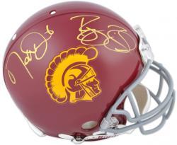 Reggie Bush & Matt Leinart USC Trojans Autographed Authentic Riddell Pro Line Helmet