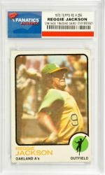 Reggie Jackson Oakland Athletics 1973 Topps #255 Card - Mounted Memories