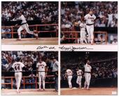 Reggie Jackson California Angels 500 HR Autographed 16'' x 20'' Photograph with 500th HR Inscription - Mounted Memories