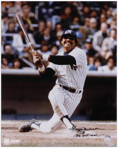 """Reggie Jackson New York Yankees Autographed 16"""" x 20"""" Knee Down Photograph with Mr October Inscription"""
