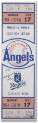 Reggie Jackson California Angels Autographed 1984 Mega Ticket with 500 Homerun Inscription - Mounted Memories