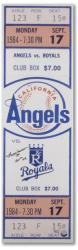 Reggie Jackson California Angels Autographed 1984 Mega Ticket with 500 Homerun Inscription