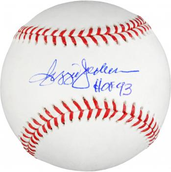 Reggie Jackson New York Yankees Autographed Baseball with HOF 93 Inscription