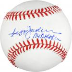 Rawlings Reggie Jackson New York Yankees Autographed Baseball ''Mr. October'' Inscription - Mounted Memories