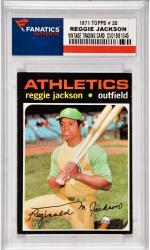 Reggie Jackson Oakland A's 1971 Topps #20 Card 1