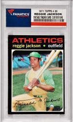 Reggie Jackson Oakland A's 1971 Topps #20 Card 2