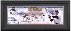 Reggie Jackson New York Yankees Framed Unsigned Panoramic Photograph with Suede Matte - Mounted Memories