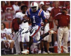 "Reggie Nelson Florida Gators Autographed 8"" x 10"" Interception Return Photograph"