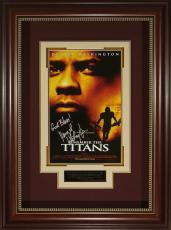 Remember the Titans Denzel Washington Signed 11x17 Poster Fr