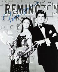 """REMINTON STEELE"""" Signed by PIERCE BROSNAN as REMINGTON STEELE and STEPHANIE ZIMBALIST as LAURA HOLT 8x10 B/W Photo"""