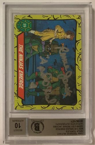 Renae Jacobs April Oneil Tmnt 1989 Ninja Turtles Signed #29 Ninjas Bgs 10 Auto