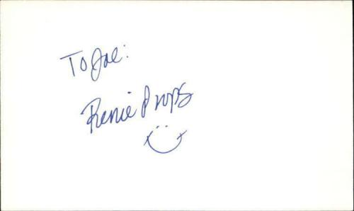 """RENEE PROPS SEINFELD Signed 3""""x5"""" Index Card"""