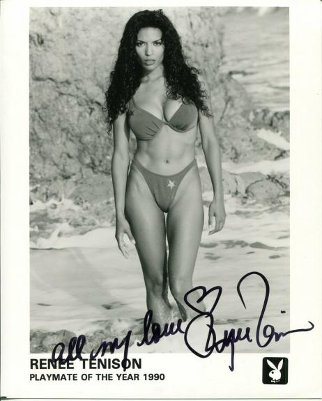 Renee Tenison 1st Black Playboy Playmate Of The Year Sexy Signed Autograph Photo