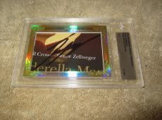 Renee Zellweger 2015 Leaf Masterpiece Cut Signature 1/1 auto signed card JSA