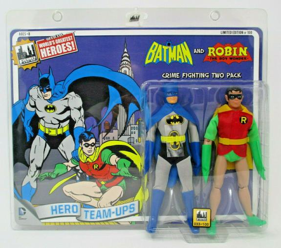RETRO BATMAN & ROBIN 8IN 2-PACK DC Action Figure ~ Figures Toy Co