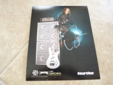 Rex Brown Pantera Signed Autographed 8 x 10 Photo PSA Guaranteed NAMM #2
