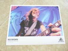 Rex Brown Pantera Signed Autographed 8.5x11 Photo PSA Guaranteed NAMM