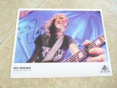 Rex Brown Pantera Signed Autographed 8.5x11 Photo PSA Guaranteed NAMM