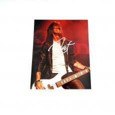 "Rex Brown Signed 8""x10"" Color Photo Pantera Pose #1 Auto"