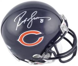 Chicago Bears Rex Grossman Signed Mini Helmet - Mounted Memories