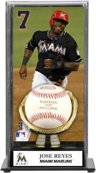Jose Reyes Miami Marlins Baseball Display Case with Gold Glove & Plate - Mounted Memories
