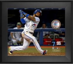"Jose Reyes Toronto Blue Jays Framed 20"" x 24"" Gamebreaker Photograph with Game-Used Ball"