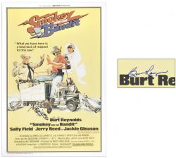 Burt Reynolds Autographed Smokey and The Bandit Poster