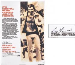 "Burt Reynolds Autographed 27"" x 40"" Poster"