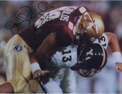 Fanatics Authentic Autographed Jamal Reynolds Florida State Seminoles 8'' x 10'' Making Tackle Photograph