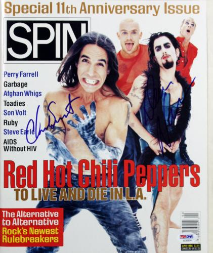 RHCP Dave Navarro & Chad Smith Signed Rolling Stone Magazine PSA/DNA #AC43034