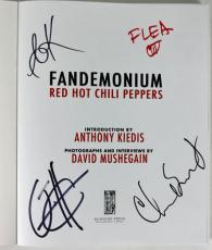 RHCP(4) Flea, Kiedis, Smith & Klinghoffer Signed Fandemonium Book PSA #Z03383